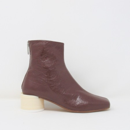 MM6 Can Heel Ankle Booties - Brown