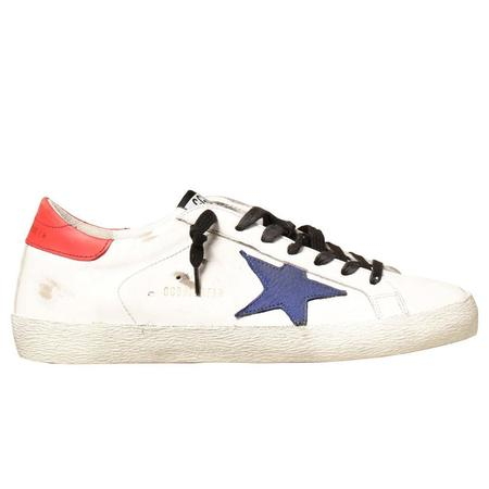 Super-Star Leather Upper And Heel Nabuk Star Sneakers