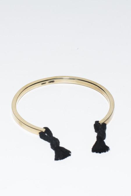 Nikolai Rose Solid 14K Gold Knotted Cuff Bracelet