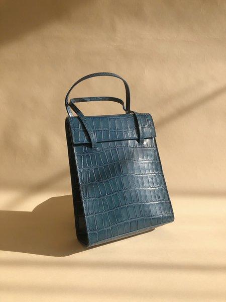 BLAME LILAC Frita  Petrol Croc Bag - Blue
