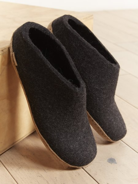 Glerups The Slip-On shoes - CHARCOAL LEATHER