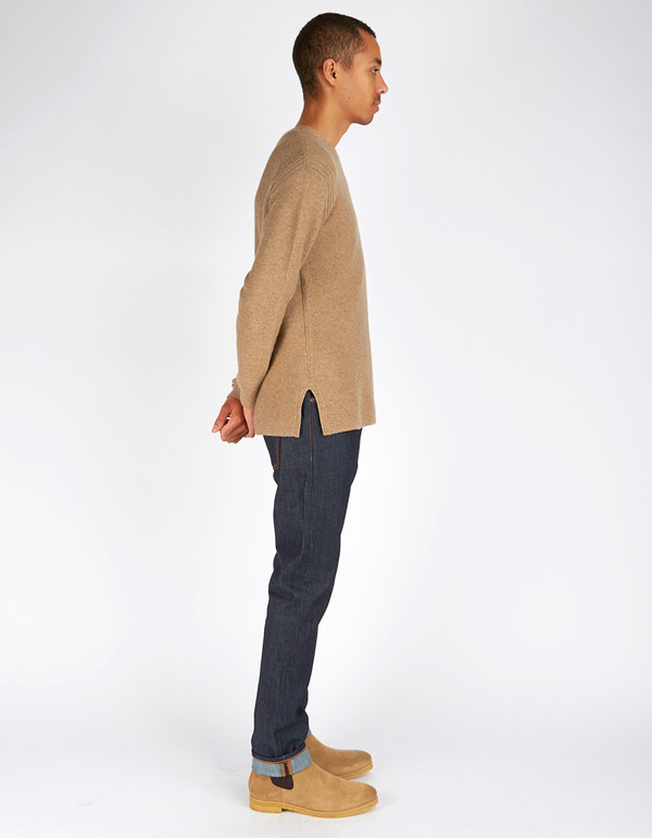 Men's Filippa K Wool Cotton Sweater Cork Melange