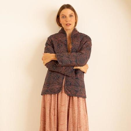 Natalie Martin Nina Jacket - Moroccan Tile Indigo/Clay