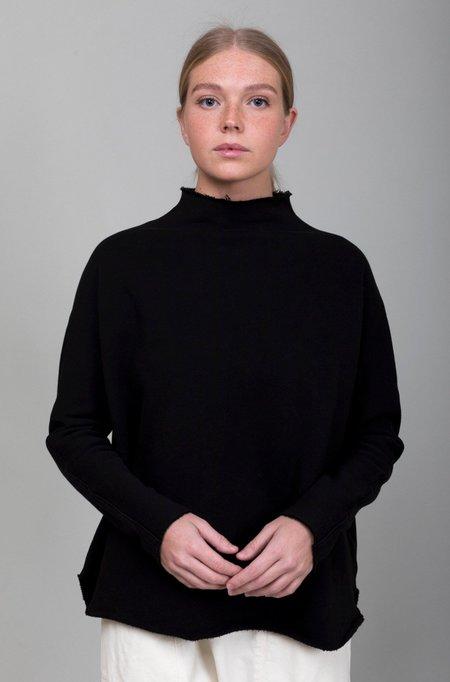 Tee Lab Funnel Neck Sweatshirt - Black