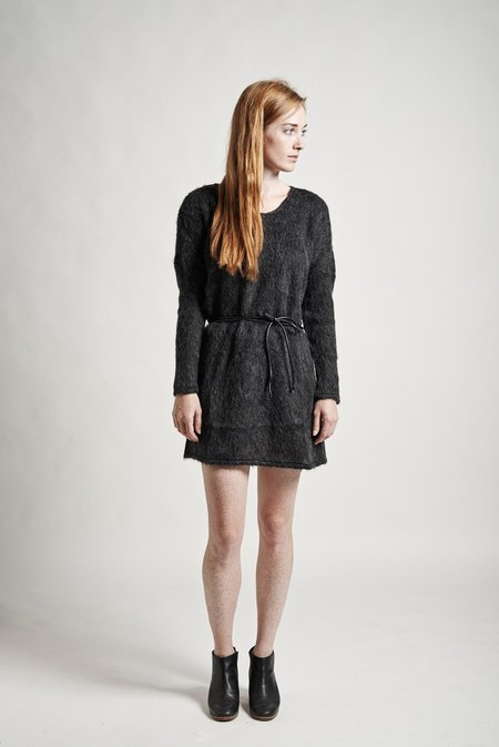 Objects Without Meaning Stella Sweater Dress - Charcoal