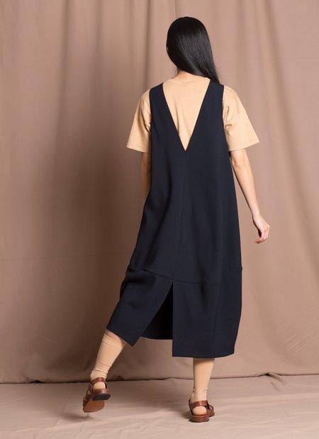 KAAREM Jar Sleeveless Back V Panel Dress - Black Blue