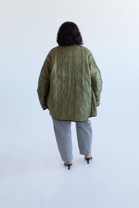 Vincetta Vintage Army Liner Jacket - Olive
