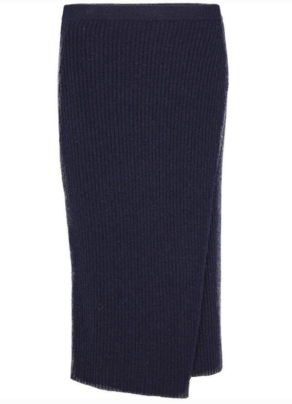 Just Female Corn Knit Skirt - Navy