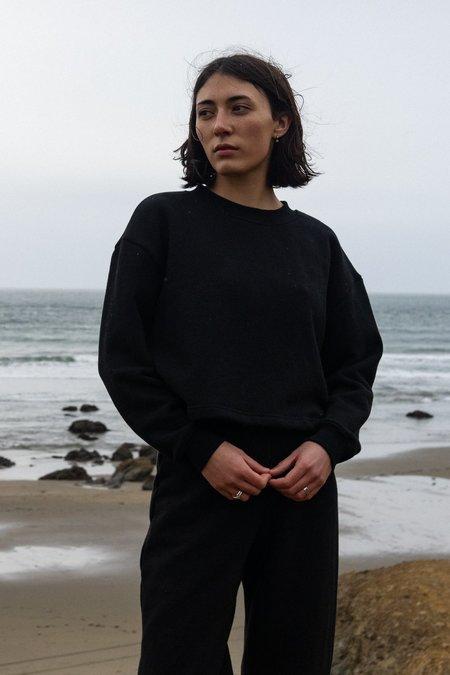 Waltz Cropped Sweatshirt - Black