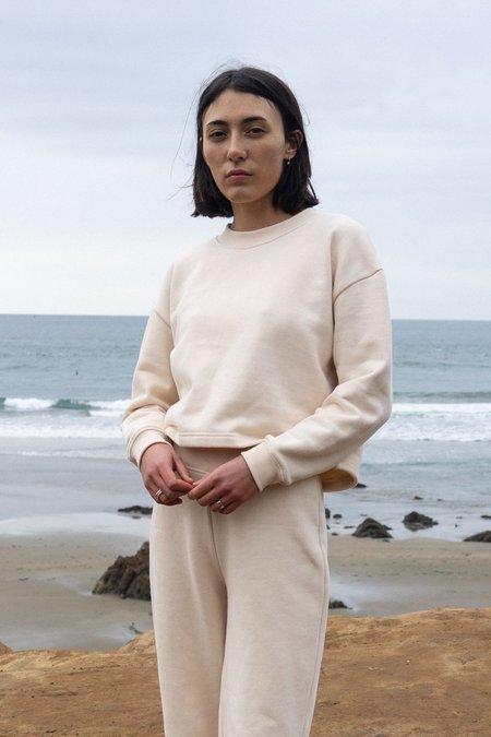 Waltz Cropped Sweatshirt - Lait