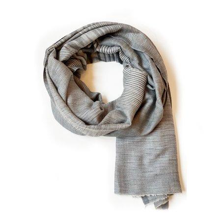 RUJUTA SHETH Ombre Stripe Scarf - Grey