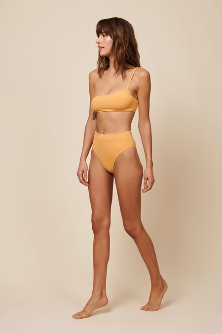Toast Swim One Shoulder Top - Gold Earth
