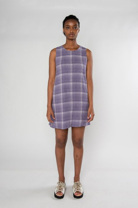 Limb The Label Audrey Dress - Mauve Check