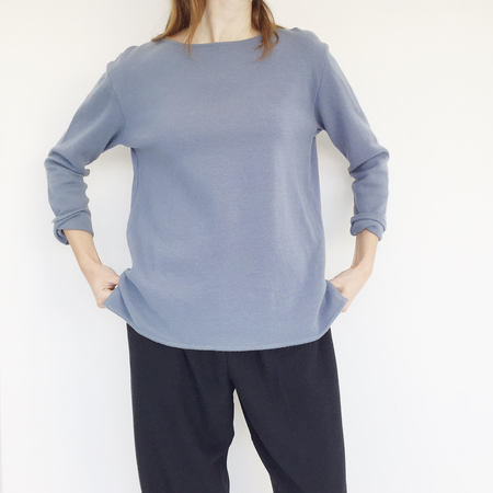 Johan Vintage Blue Boatneck Sweater