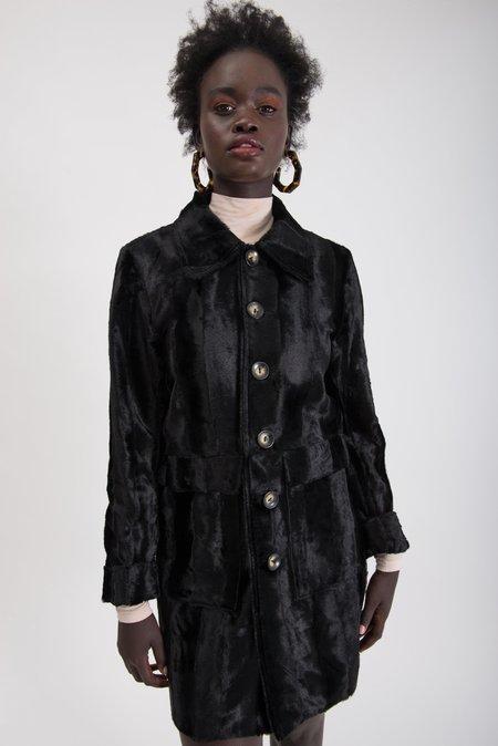 Limb The Label Marcelle Jacket - Black Fur