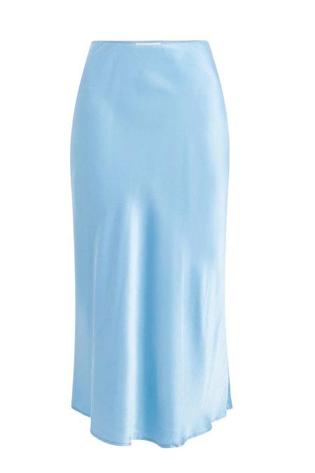 Silk Laundry Bias Cut Skirt - Airy Blue