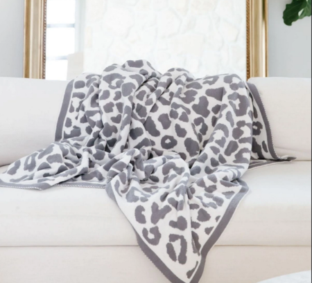 Priv Luxe Throw Blanket - Leopard