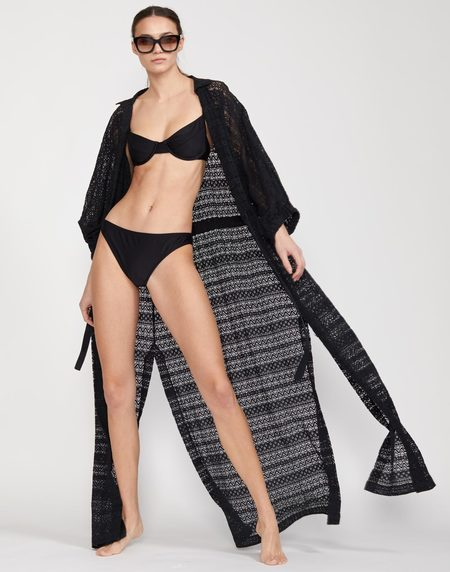 Cynthia Rowley Sirena Lace Drawstring Coverup