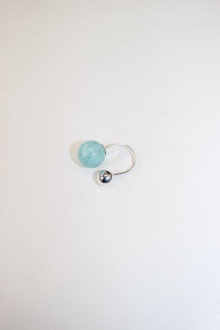 Yuun Arpeggio Ii Open Ring - Turquoise