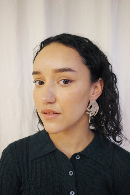 Yu Yu Shiratori Ring Toss Earrings - brass/silver