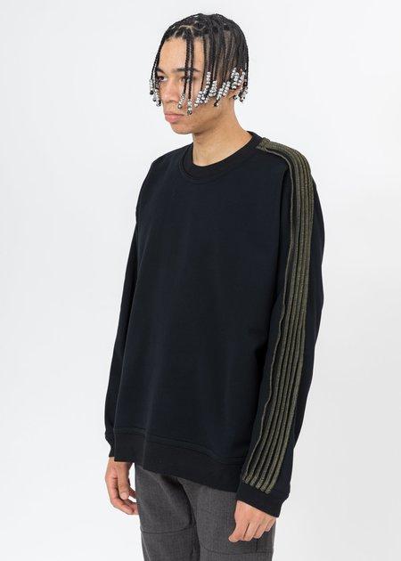 CORNERSTONE Pinched Seams Sweater - Black
