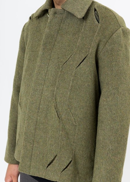 CORNERSTONE Wool Cut-Out Jacket - Green