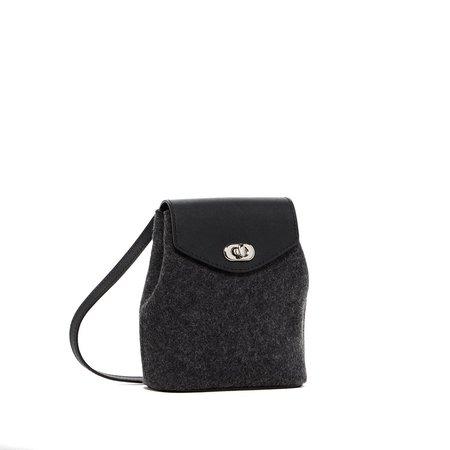 Graf Lantz Briza Petite Felt Bag - Charcoal/Black