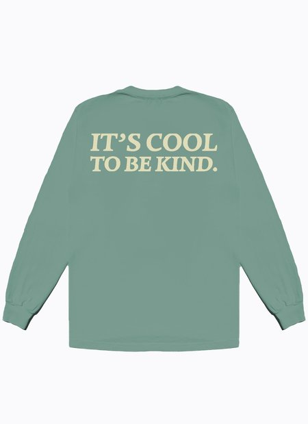 Noble Gentlemen Trading Co. Cool To Be Kind LS Tee - Sage