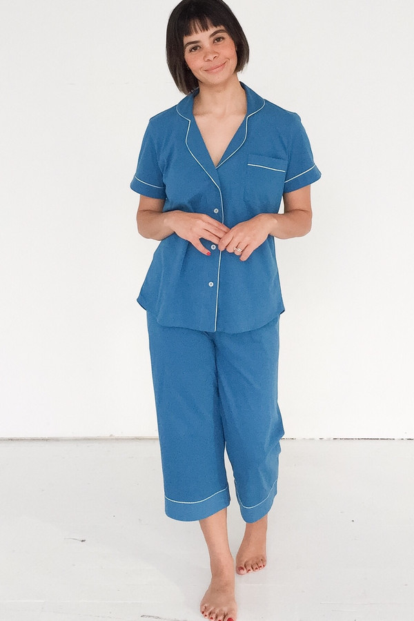 Salua Pima Cotton Capri Pajamas