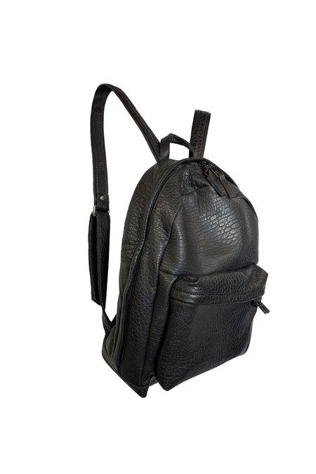 Giorgio Brato Pebbled Leather Backpack  - Black