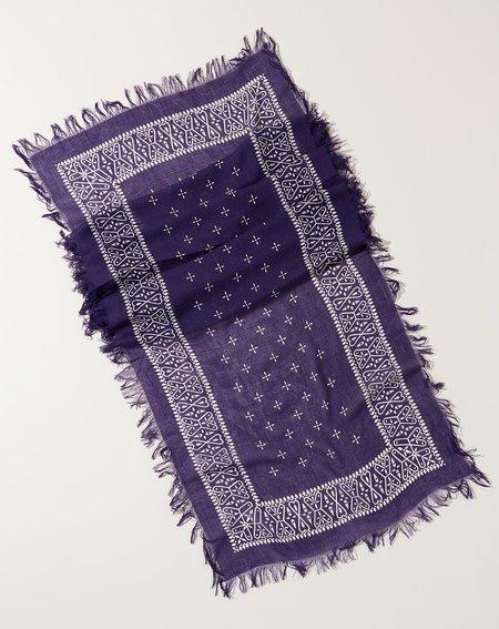 Kapital Fringe Bandana Stole - Purple