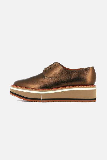Robert Clergerie Brook Derbies Shoes - Copper