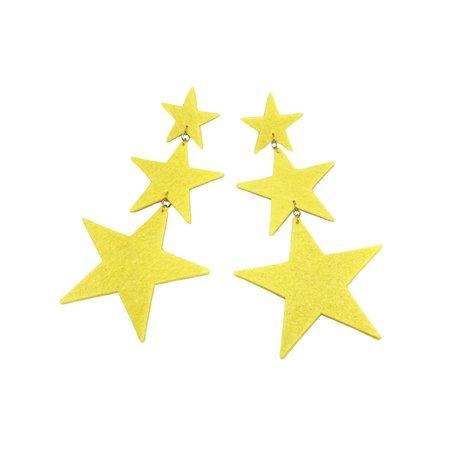 Dady Bones Triple Star Earrings