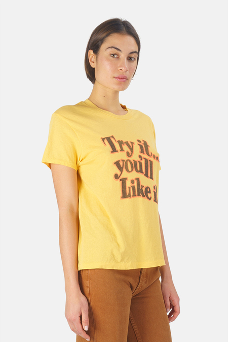 RE/DONE Try It 70s Loose T-Shirt - vintage gold