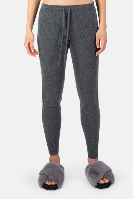 Naadam Brushed Cashmere Joggers Pants - Granite