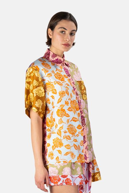 Zimmermann Lovestruck Spliced Shirt - Mixed Rose