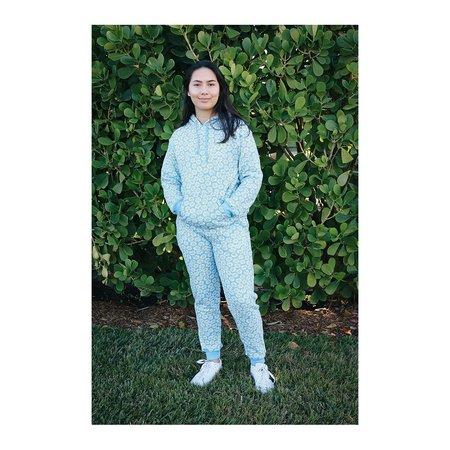HVN Daisy Printed Hoodie - Sky Blue