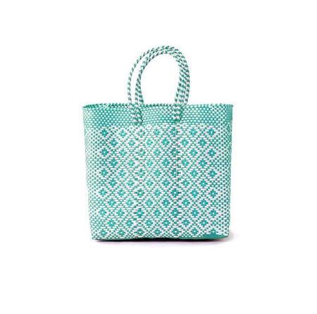 Letra Medium Diamond Mercado Bag - Mint