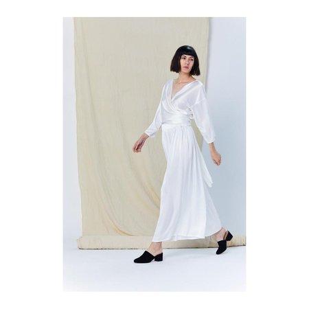 Miranda Bennett Charmeuse Paperbag Skirt