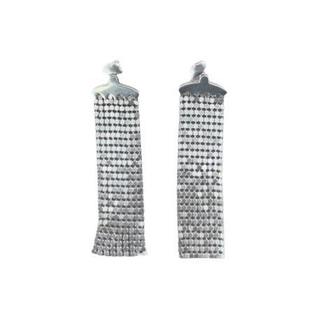 MM Druck Maidenhair Earrings - silver