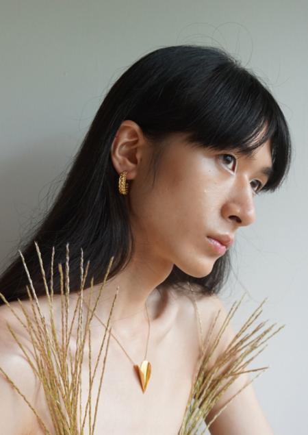 Mirit Weinstock Mizuhiki Hoops - gold