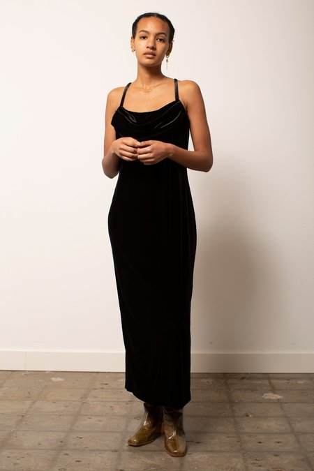 Vintage Velvet Party Dress - Black