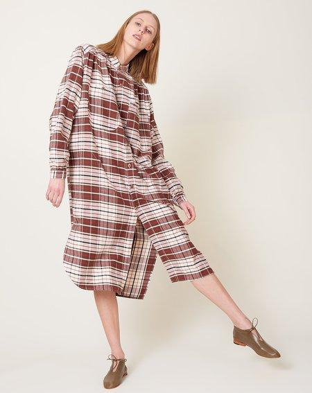 Dr. Collectors Gala Dress - Brown Japanese Plaid