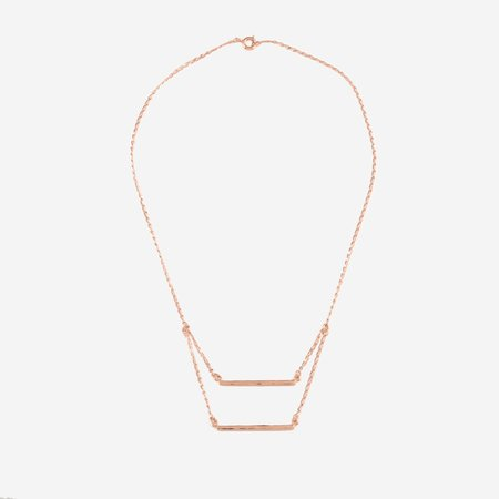 TheCanoShoe PATRICIA Hammered Necklace - 14k rose gold