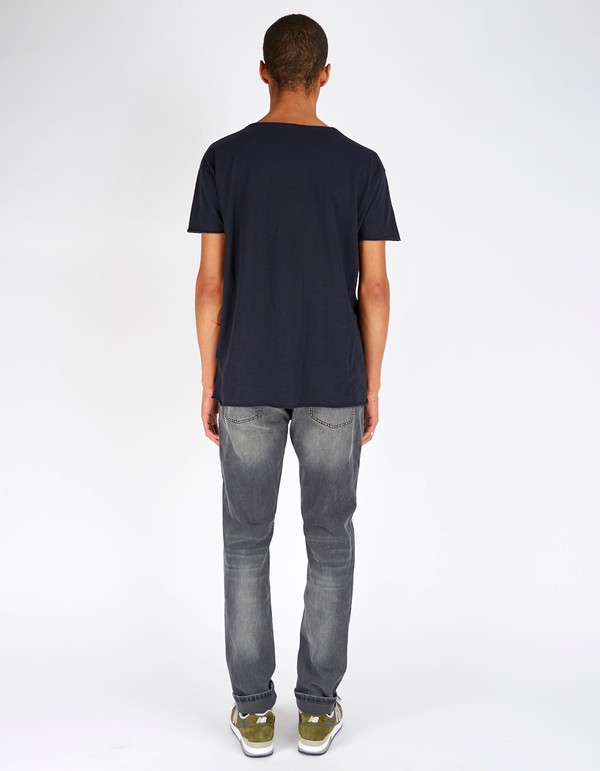 Men's Nudie Roger Slub Tee Navy