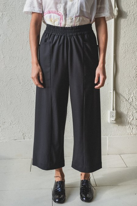 Studio Nicholson North Pants - Black Drapey Wool