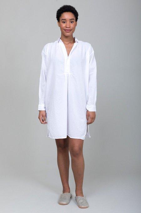 Domi Sleepwear Organic Cotton Nightshirt - White