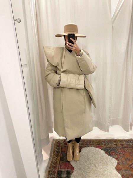 Amomento Goose Down Muffler jacket - Olive