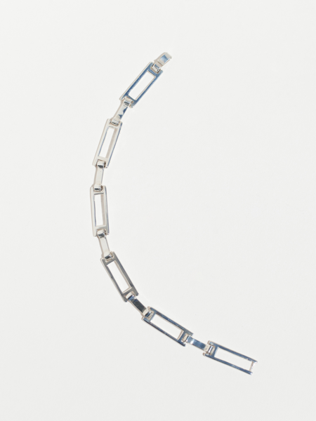 Faris Grid Bracelet - Silver