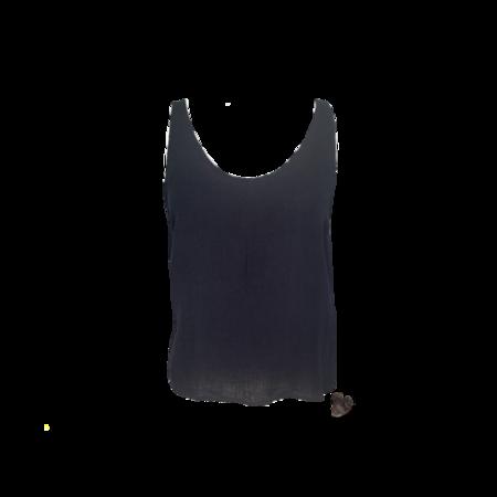Samuji Lilac Linen Top - Black